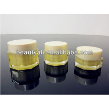 Octagon Empty Cosmetic Cream Acrylic Jar