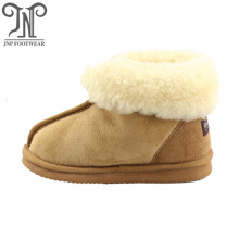 warm sheepskin infant baby winter slipper boots