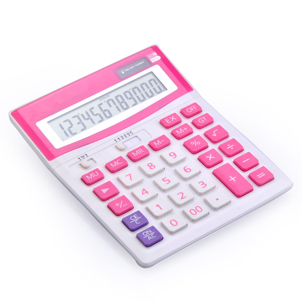 12 Digit Office Supply Big Size Desktop Calculator