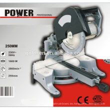 255mm Head Destacable Inducción Sliding Mitre Saw Power Tubo de aluminio de corte de la máquina
