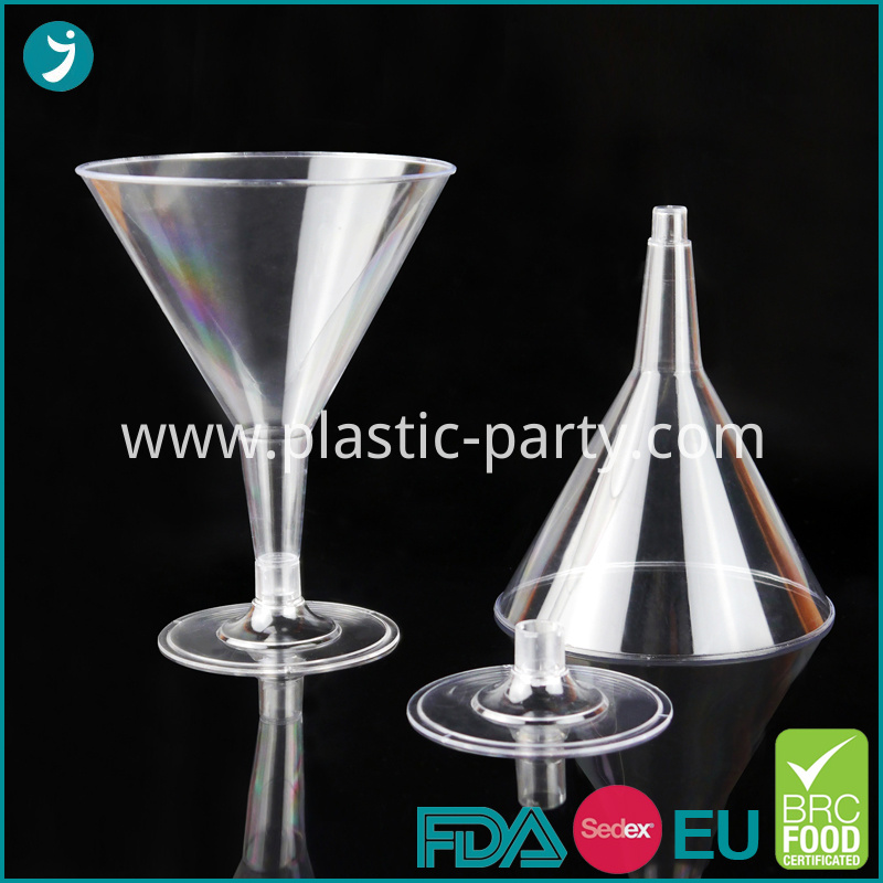 Clear Plastic Martini Glasses