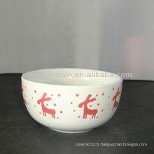 Bol de Noël en céramique de 5 pouces pour BSB1121A