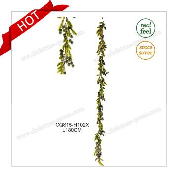 6-7FT flor plástica decoración de la boda decoración del partido guirnalda de la guirnalda de la Navidad