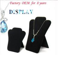 Картон землю стоящий ювелирные изделия ожерелье Дисплей (НС-ФК-20)