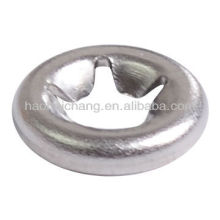 Metal tooth type snap clamp ring or gasket for electric heating equipment