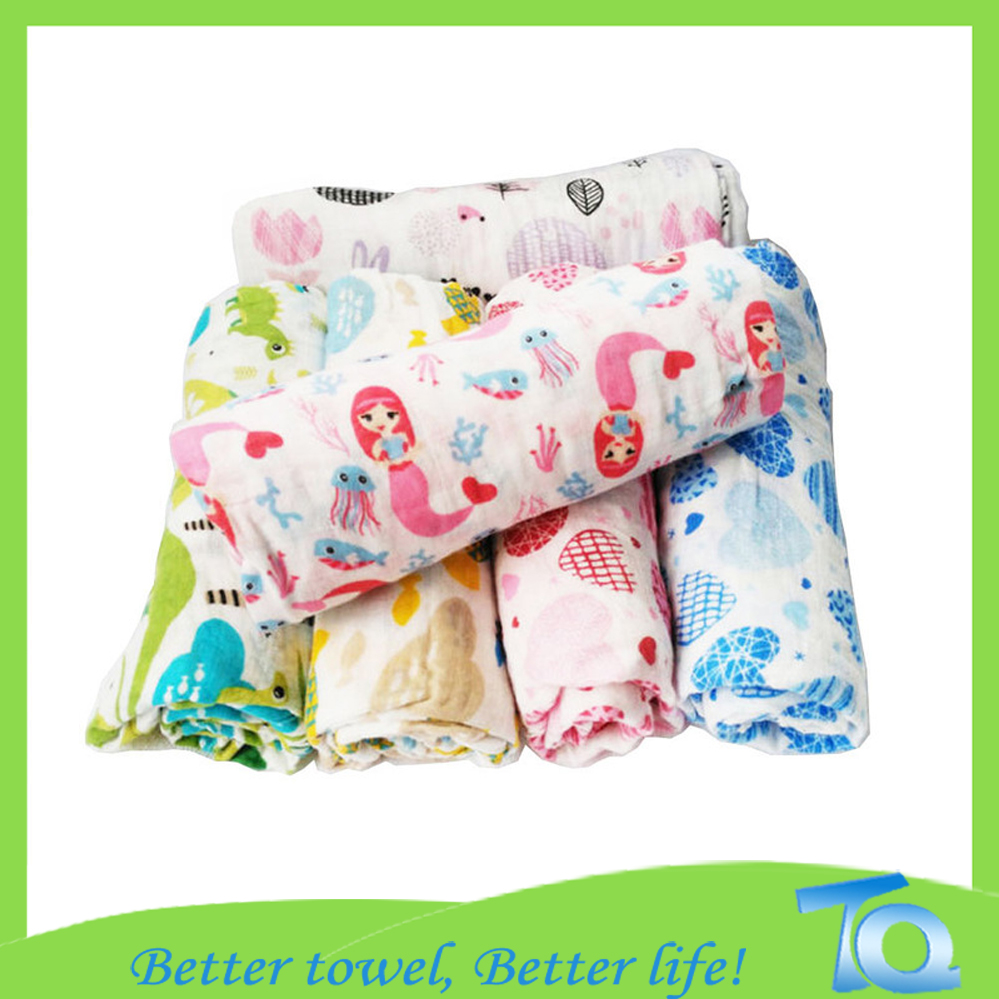 High Sales Baby Muslin Wraps Comfortable Swaddle Blanket