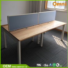 Four Person Modern Wooden Office Furniture Desk