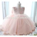 Neugeborenes Baby Mädchen Prinzessin Taufe Kleider Rosa Farbe Kleinkind Kleider für 1 Jahr altes Mädchen