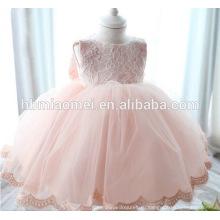 Новорожденный ребенок девушки Принцесса Крещение платья розового цвета платья малыша для 1-летняя девочка