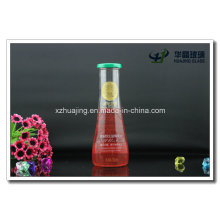 New 330ml Decorative Glass Fruit Juice Beverages Bottle with Tin Lids