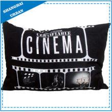 Cinema Theme Printed Polyester Throw Pillow
