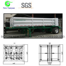 12 Tubes Helium Medium Tube Cylinder Semi Trailer