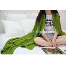 Muster-Design warme Kabel stricken Wolle Kaschmir-Mischung Decke