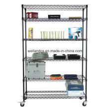NSF polvo de acero recubierto de garaje de almacenamiento de alambre sistema de estantes
