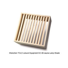 Light Diffuser Shade , Wooden Lamp Shade For Wet / Dry Steam Traditional Sauna