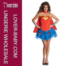 Sexy Woman Wonder Supergirl Super Hero Costume (L15235)