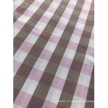 tissu de conception à carreaux teint en fil de polyester