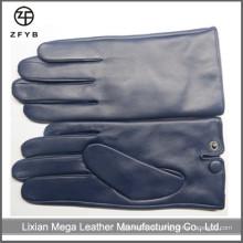 Navy blau Farbe Herren Leder Handschuhe in Leder Handschuhe & Handschuhe