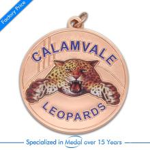 China-kundengebundene Zink-Legierungs-Stempel-Qualitäts-Leopard-Medaille mit gedrucktem Paster