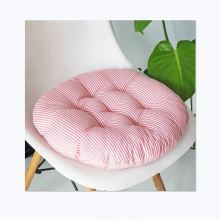 Hot sale round cotton and linen style chair cushion for office home