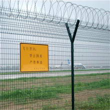 4.5mm/5mm Y shaped airport fence with razor barbed wire