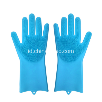 Alat Pembersih Dapur Silicone Long Glove with Brush