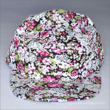 floral fabric blank 5 panel camp cap