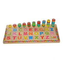 Wooden Alphabet and Number Toy for Education