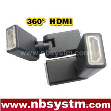 rotate 360 degree HDMI adapter A type female to female