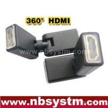 Girar adaptador HDMI de 360 graus Um tipo feminino para fêmea