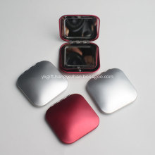 Promotional Metal Square Compact Mirror With Logo Printing