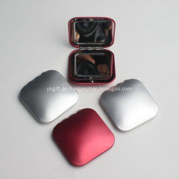 Werbe Metall Square Taschenspiegel mit Logo-Aufdruck