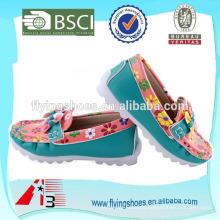 Zapato floral del cabrito de Tailandia para el zapato de bebé de las muchachas
