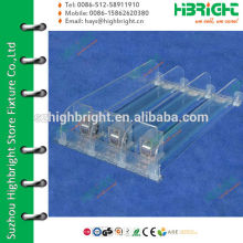 clear plastic shelf divider and pusher