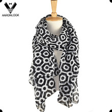 Fashionable Supply OEM Custom Printed Polyester Wide Scarf
