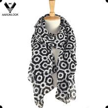 Модный комплект OEM Custom печатных полиэстер широкий шарф