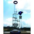 K-48 16inch 50 diamètre 5thickness Beaker Base 7mm Honeycomb Disque Perc à douchette Verre Fumée Eau Pipe