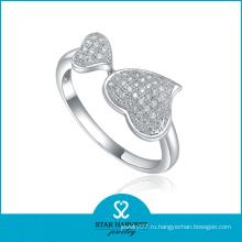 Кольцо сердца высокого качества стерлингового серебра (SH-R0022)