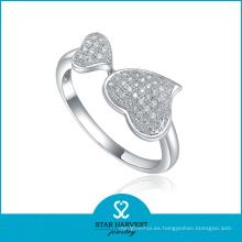 Anillo de calidad superior del corazón de plata esterlina (SH-R0022)