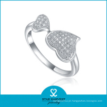 Anel de coração de prata esterlina de alta qualidade (SH-R0022)