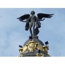 extérieur jardin décoration métal artisanat bronze ailé statue de l'ange
