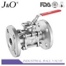 Válvula de esfera de extremidade flangeada 3PC com almofada de montagem ASME 300lbs