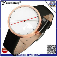 Yxl-545 Fashion Leather Strap Wholesale Watches for Men, Luxury Japan Movt Quartz Watch Stainless Steel Back Leather Watches
