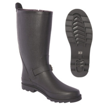 Women Pure Rubber Rain boots with Clasp