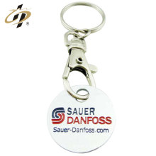 2018 promotional custom logo holder metal name trolley tokens