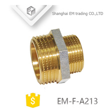 EM-F-A213 Nickel plated NPT male thread brass reduce adapter pipe fitting