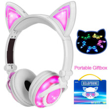 Kids Headphones With Cat Ear LED Light