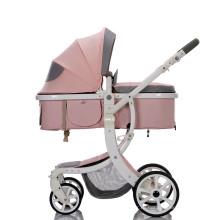 Оптовая дешевая система путешествий роскошная детская коляска 3 в 1 с люлькой и автокреслом