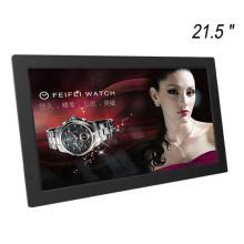 Auto reproducción y lazo 21,5 pulgadas anuncios marco de fotos digital