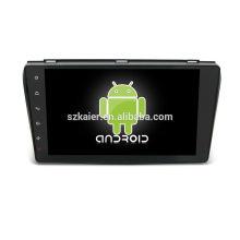 Quatro núcleos! Dvd do carro Android 6.0 para MAZDA 3 com 9 polegada Tela Capacitiva / GPS / Link Espelho / DVR / TPMS / OBD2 / WIFI / 4G